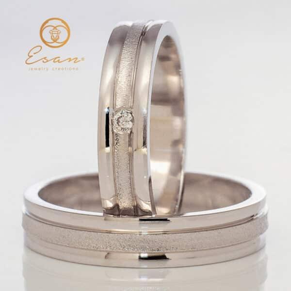 din aur alb cu diamant ESV126