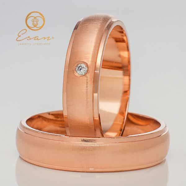 din aur roz cu diamant ESV128