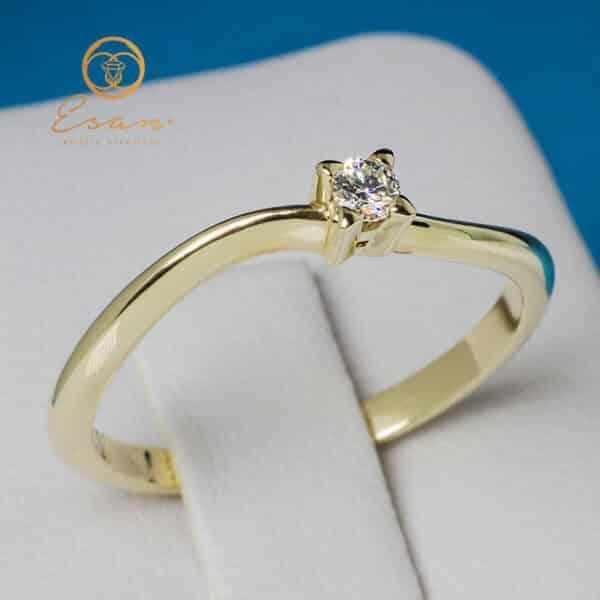 Inel de logodna din aur cu diamant es
