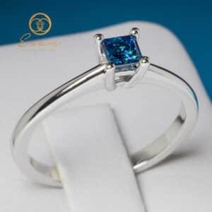 de logodna cu diamant albastru ES18DB