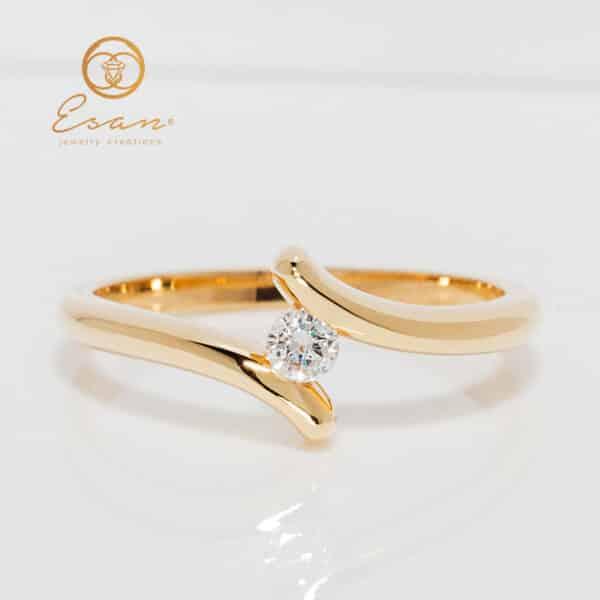 de logodna din aur cu diamant