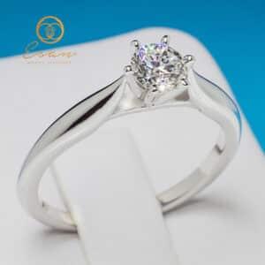 Inel de logodna din aur cu diamant ES131