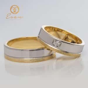 Verighete din aur cu diamante ESV42