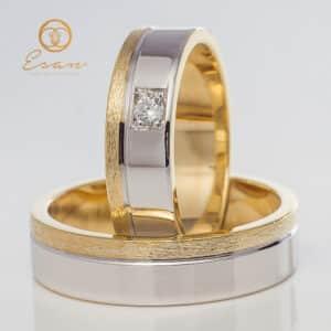din aur galben si alb cu diamante