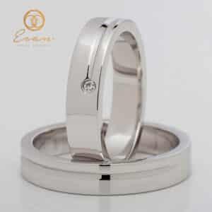 din aur alb 18k cu diamante ESV140