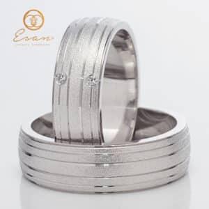din aur alb 18k cu diamante ESV146