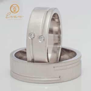 din aur alb cu diamante ESV138
