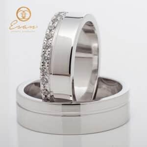 din aur alb cu diamante ESV141
