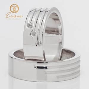 din aur alb cu diamante ESV142