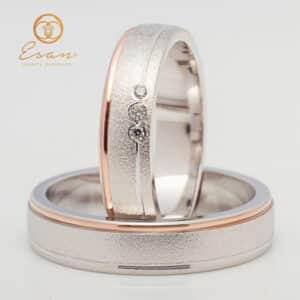 din aur alb si roz model personalizat ESV143