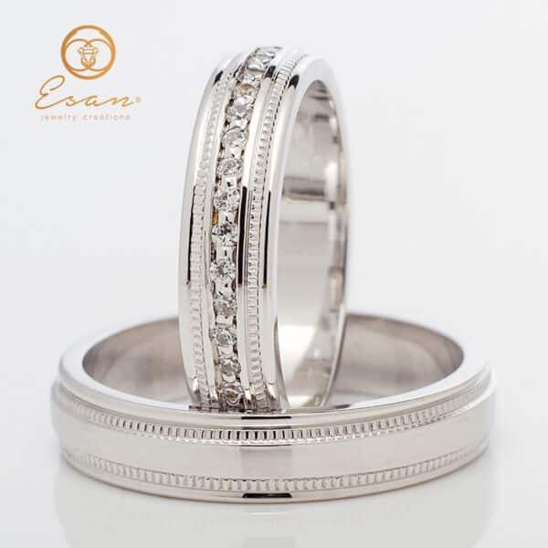 din aur cu diamante ESV145