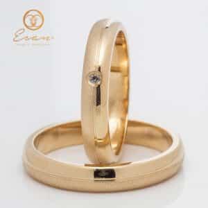 din aur galben cu finisaj mat si diamante ESV137