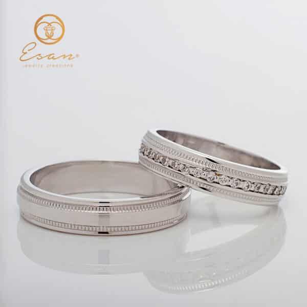 Verighete din aur cu diamante ESV145