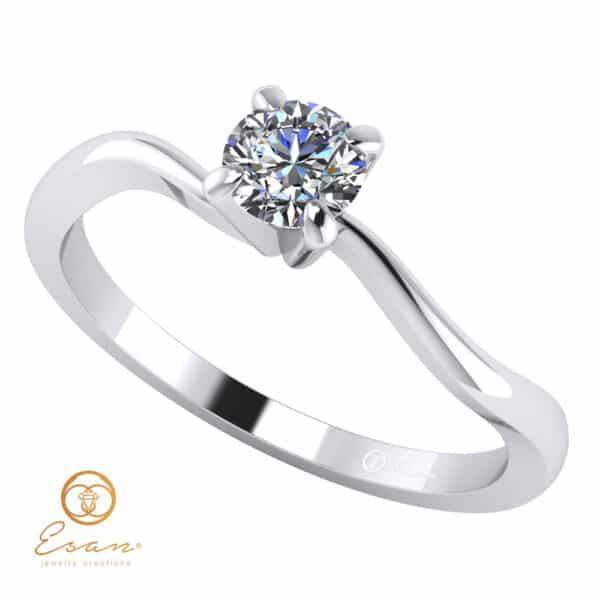 Inel de logodna solitaire cu diamant ES11