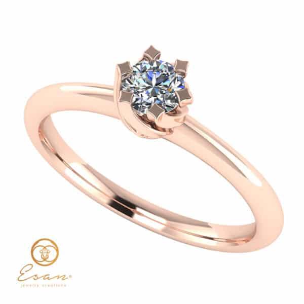 Inel de logodna solitaire cu diamant ES1D