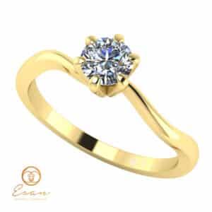 Inel de logodna din aur cu diamant natural ES2