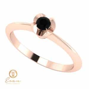 Inel de logodna cu diamant negru din aur ES3