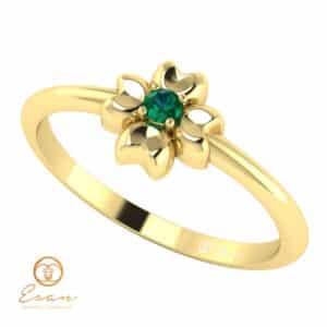 Inel de logodna cu smarald natural ES4
