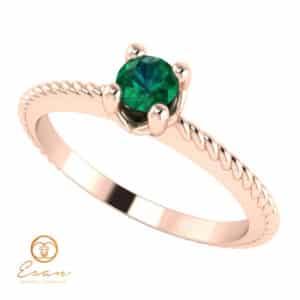 Inel de logodna din aur cu smarald ES5