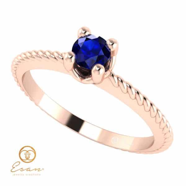 Inel de logodna din aur cu safir ES5