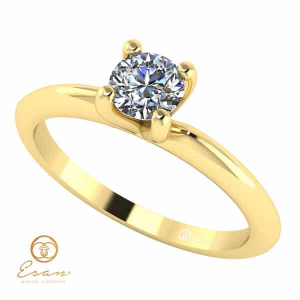 Inel de logodna solitaire cu diamant ES6