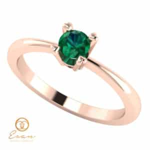 Inel de logodna cu smarald solitaire ES7