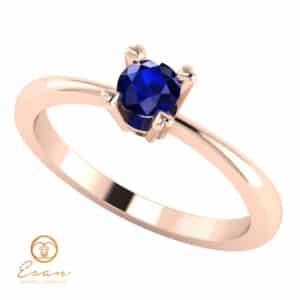 Inel de logodna cu safir solitaire ES7