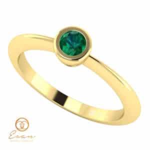 Inel de logodna din aur cu smarald ES8
