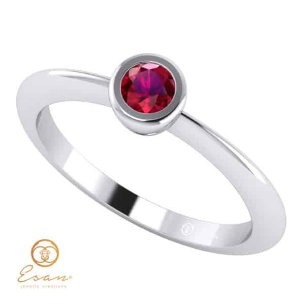 Inel de logodna din aur cu rubin ES8