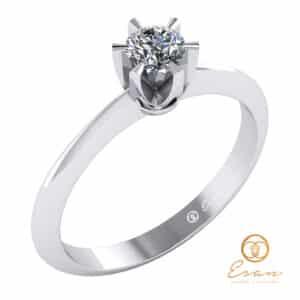 Inel de logodna din aur cu diamant natural ES9