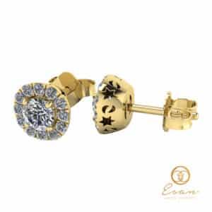 Cercei din aur cu diamante ESCD1