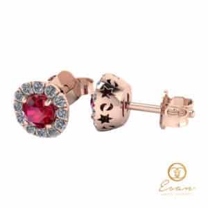 Cercei cu rubin si diamante ESCR1