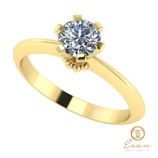 Inel de logodna din aur cu diamant ES27