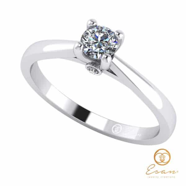 Inel de logodna din aur cu diamant ES29