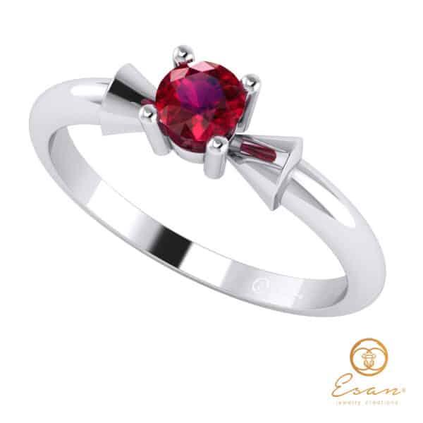 Inel de logodna din aur cu rubin ES26