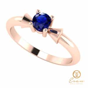 Inel de logodna din aur cu safir ES26
