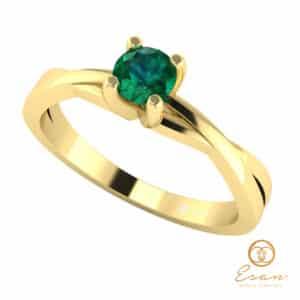 Inel de logodna din aur cu smarald ES25