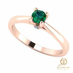 Inel de logodna din aur cu smarald ES29