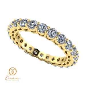 Inel de logodna din aur cu diamante ES65
