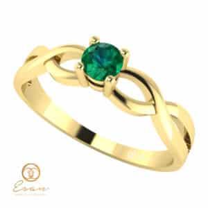 Inel de logodna din aur cu smarald ES22