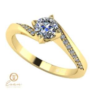 Inel logodna cu diamante ES117