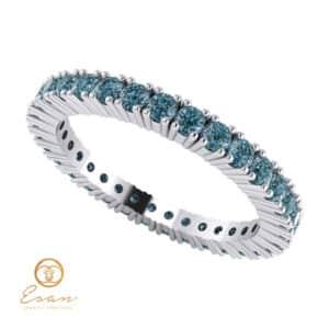 Inel de logodna din aur cu diamante albastre ES60