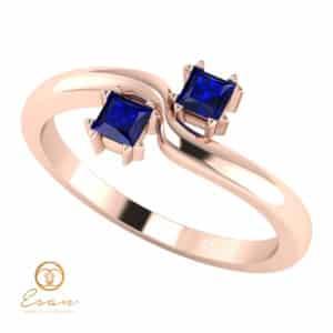 Inel de logodna din aur cu safire ES85