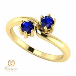Inel de logodna din aur cu safire ES84