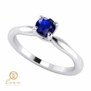 Inel de logodna din aur cu safir ES48