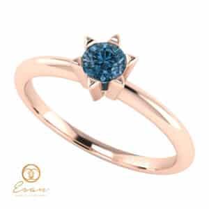 Inel de logodna din aur cu diamant albastru ES51