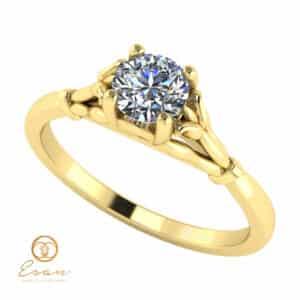 Inel de logodna din aur cu diamant ES54