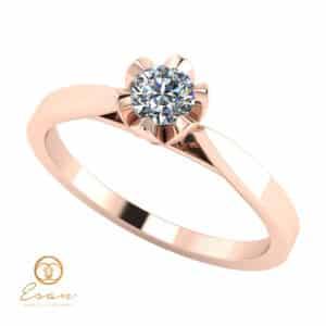Inel de logodna din aur cu diamant ES55