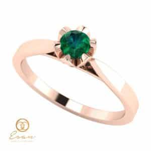 Inel de logodna din aur cu smarald ES55