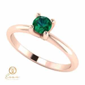Inel de logodna din aur cu smarald ES57
